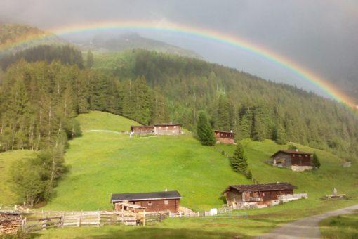 Nockeralmen Vals mit Regenbogen
