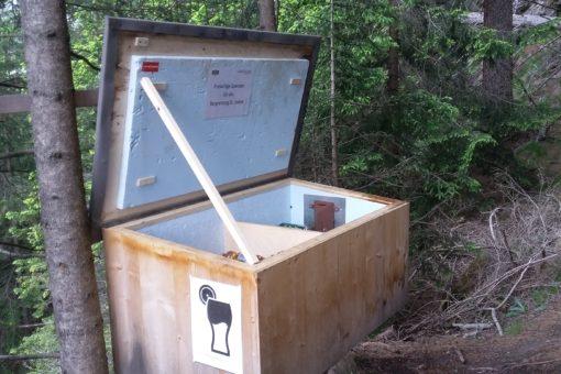 Getränkekiste mit Erfrischungen gegen eine Spende für die Bergrettung Vals/ St.Jodok im Wipptal