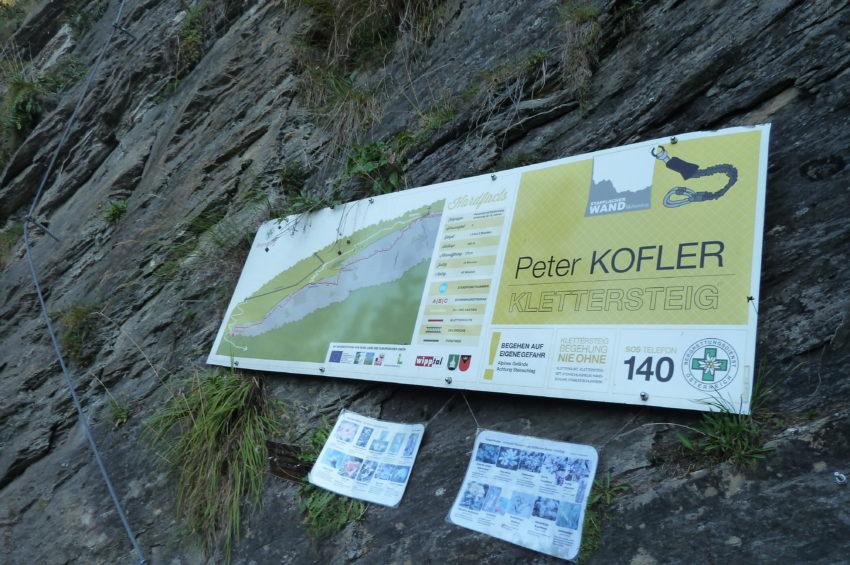 Peter Kofler Klettersteig in St. Jodok
