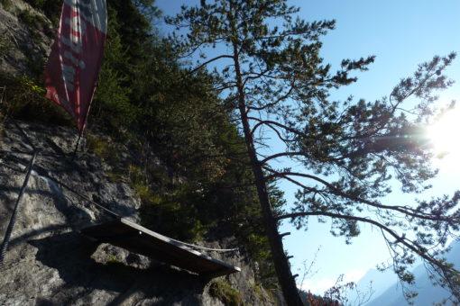 Erstes Bankl am Peter Kofler Klettersteig
