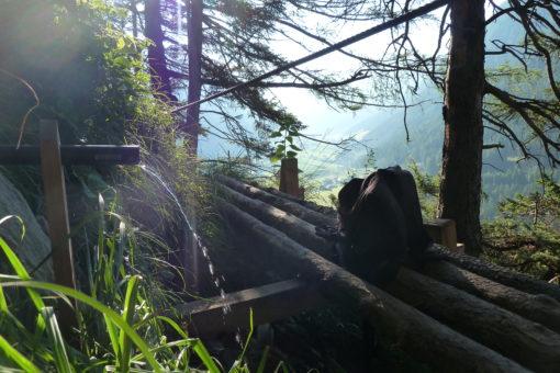 Quelle am Peter Kofler Klettersteig