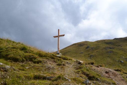 Das neue Kreuz am Tuxer Joch in Schmirn