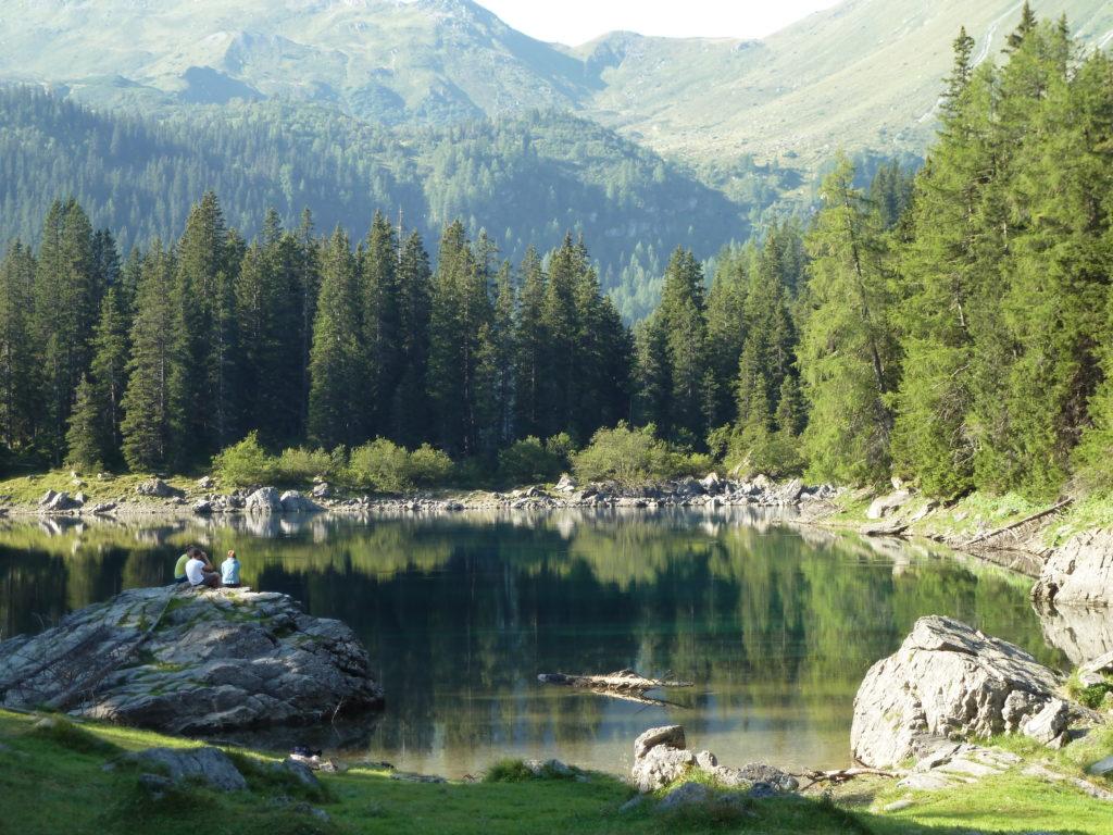 Morgenstimmung am Obernberger See im Wipptal