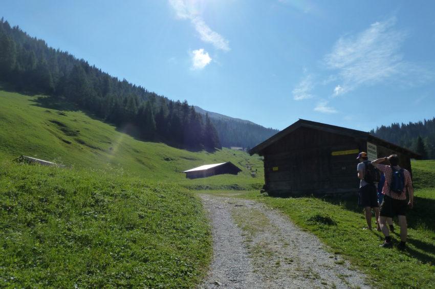 Wiesenweg zum Obernberger See im Wipptal