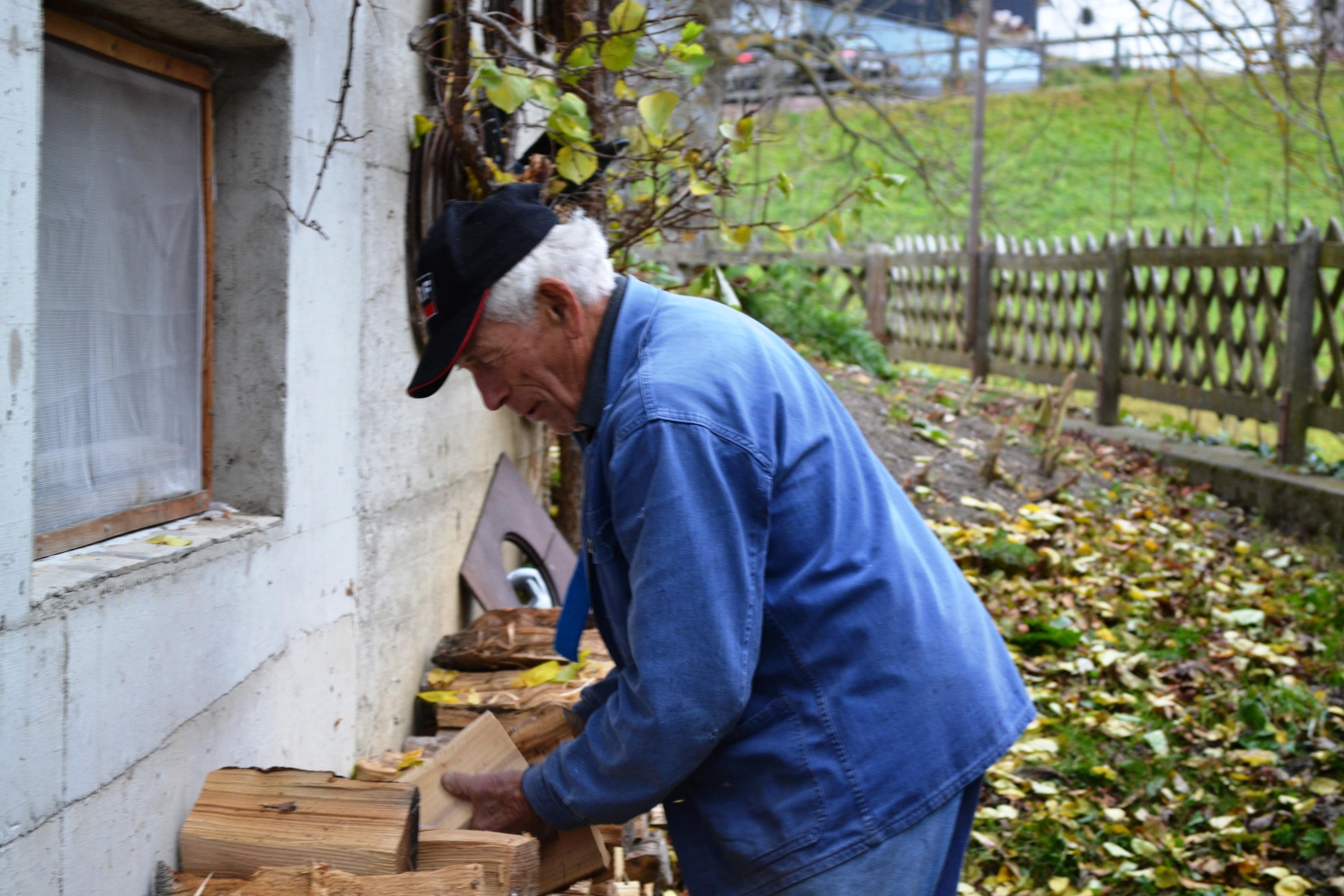 Holz für den Brennkessel
