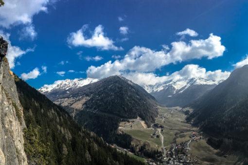 Talblick vom Klettersteig