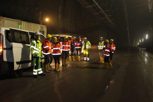 Ausstieg Transfer in den Zufahrtstunnel Ahrental