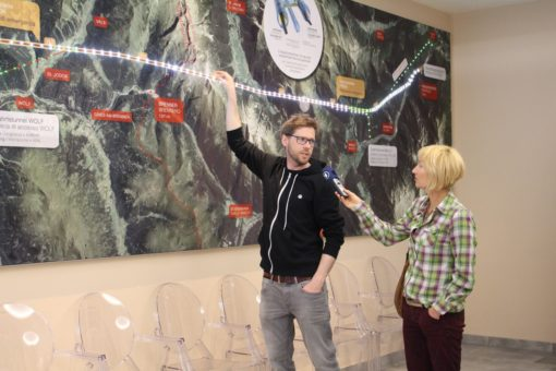 Erklärungen Projektstand im Info-Center Steinach