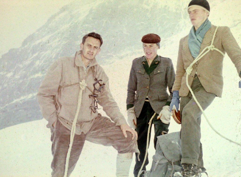 Seilschaft aus dem Valsertal in den 60er-Jahren