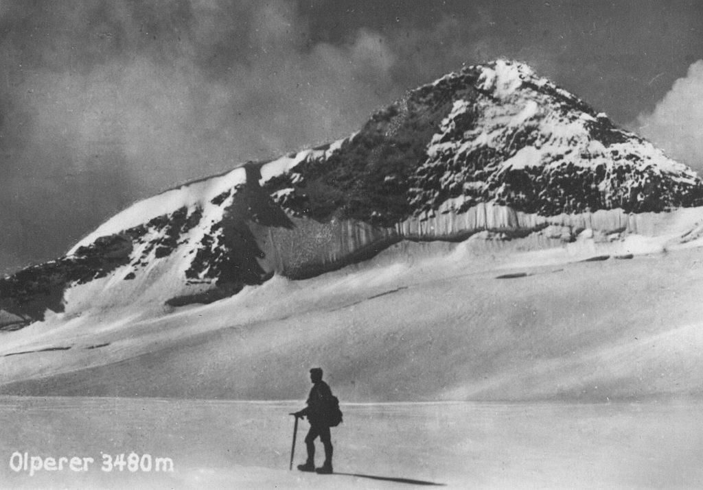 Olperer mit Bergsteiger