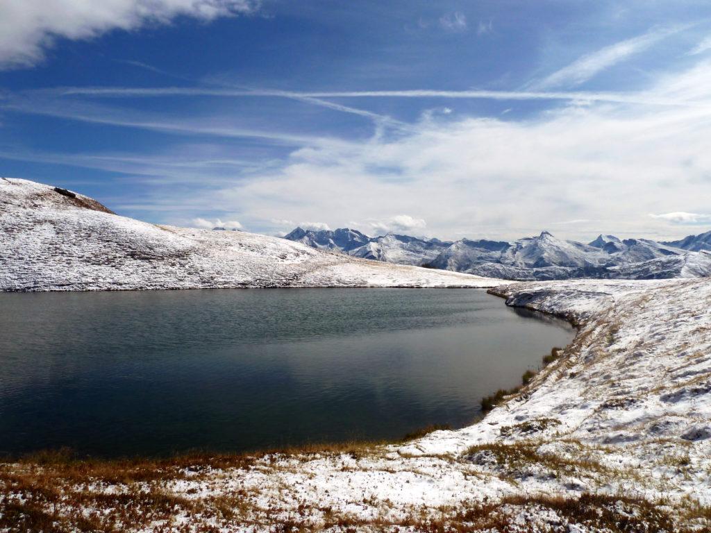 Lichtsee in herbstlichen Schneekleid, Obernberg