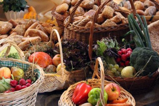 Gemüse, Obst und Brot