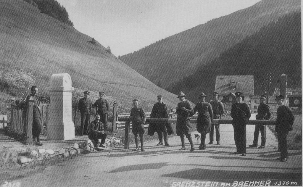 Grenzstein am Brenner
