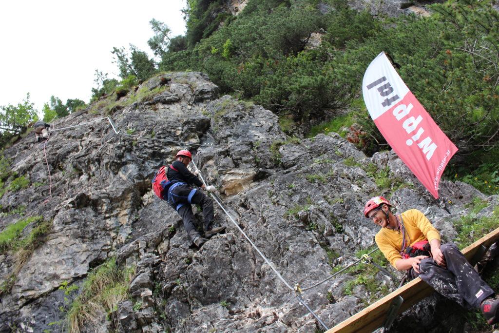 Letzte Arbeiten am Klettersteig St. Magdalena