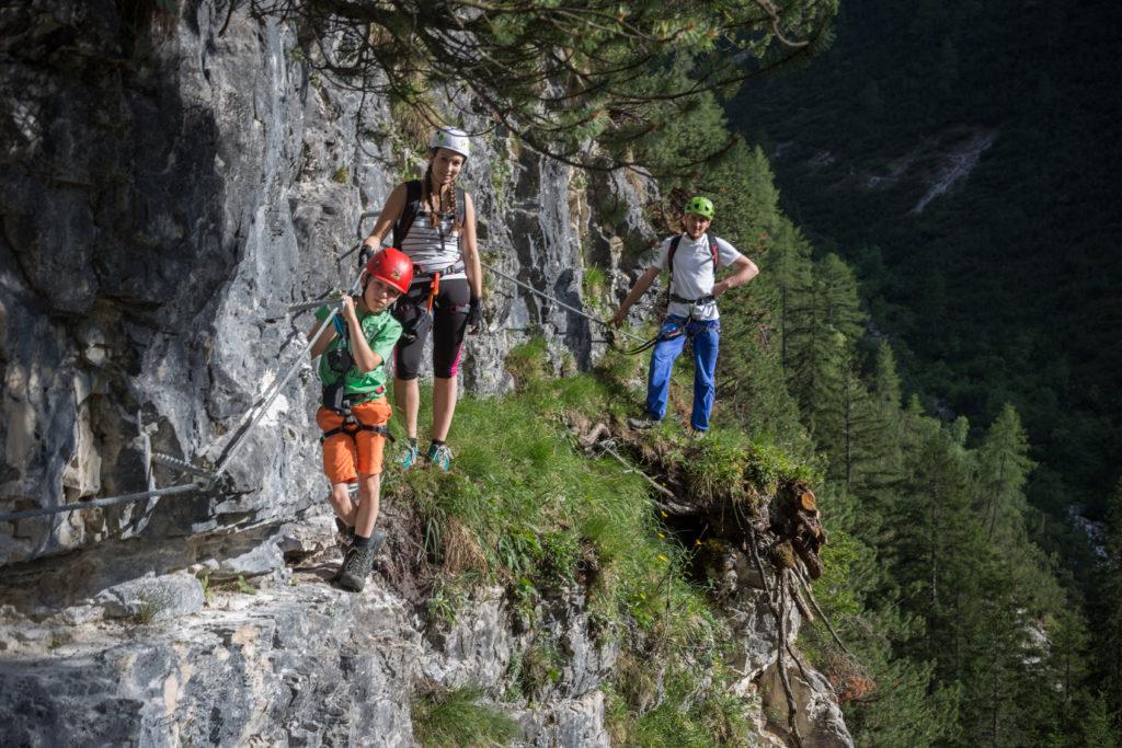 Schwierigkeitsgrad A beim Klettersteig St. Magdalena im Gschnitztal