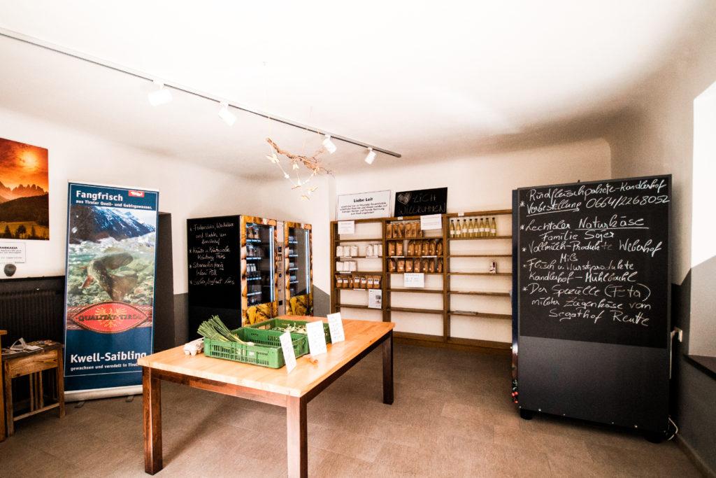 Wipptaler Bauernladele im Ortszentrum von Steinach