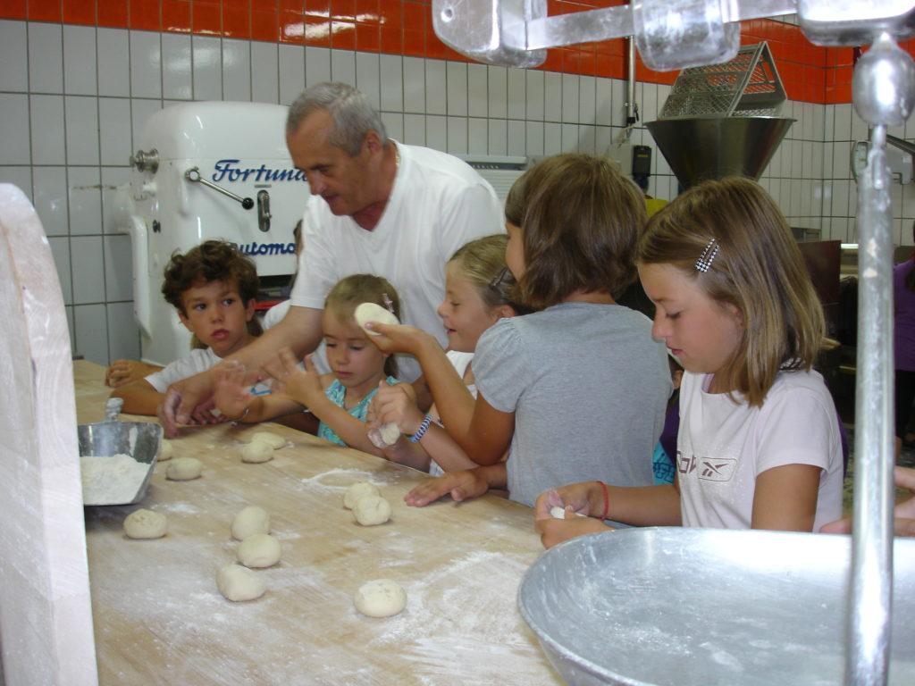 Zu Besuch in der Bäckerei