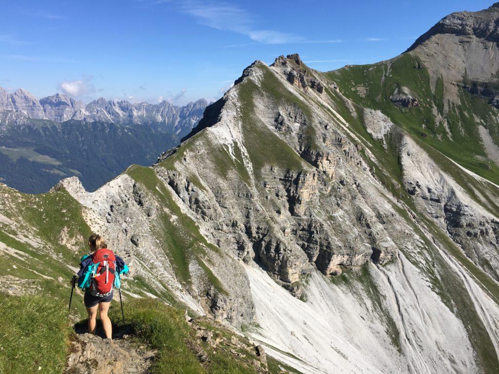 Übergang zur Kesselspitze über den Grat