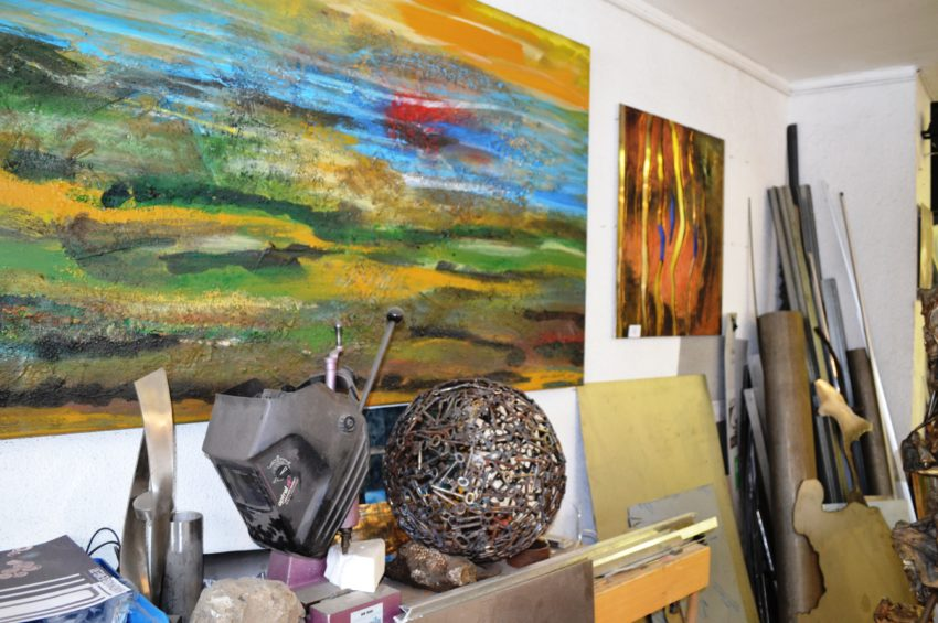 Im Atelier von Toni Amort