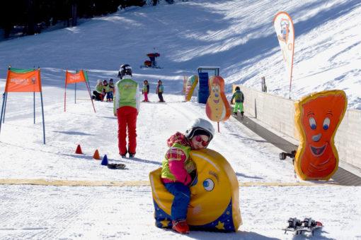 Zeit für eine Pause beim Skikurs