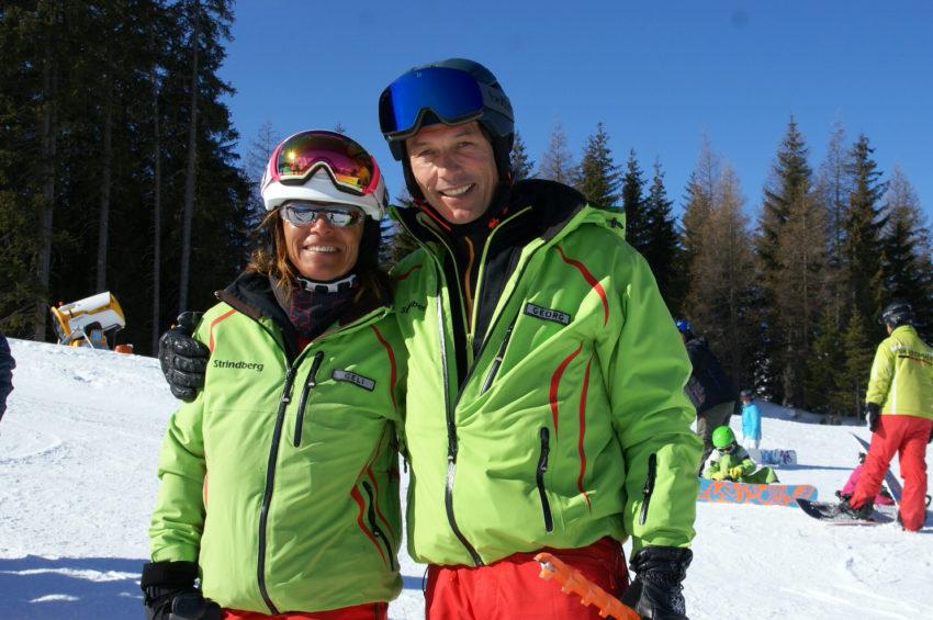 Skischulleiter Georg mit Geli