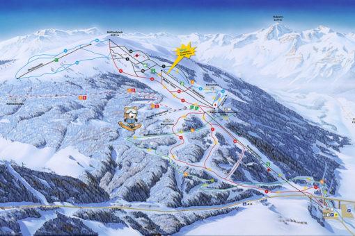 Pistenplan Ski- und Freizeitarena Bergeralm