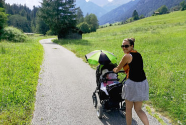 Hiking with a pram