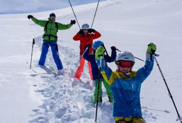 Skitouren gehen mit Kindern