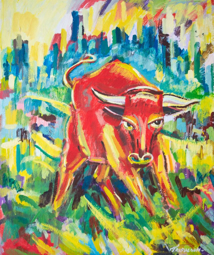 Der Stier - zu finden bei uns im Infobüro Steinach
