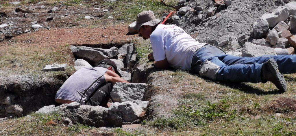 Das Team der Uni Innsbruck war voller Eifer bei den Ausgrabungen.